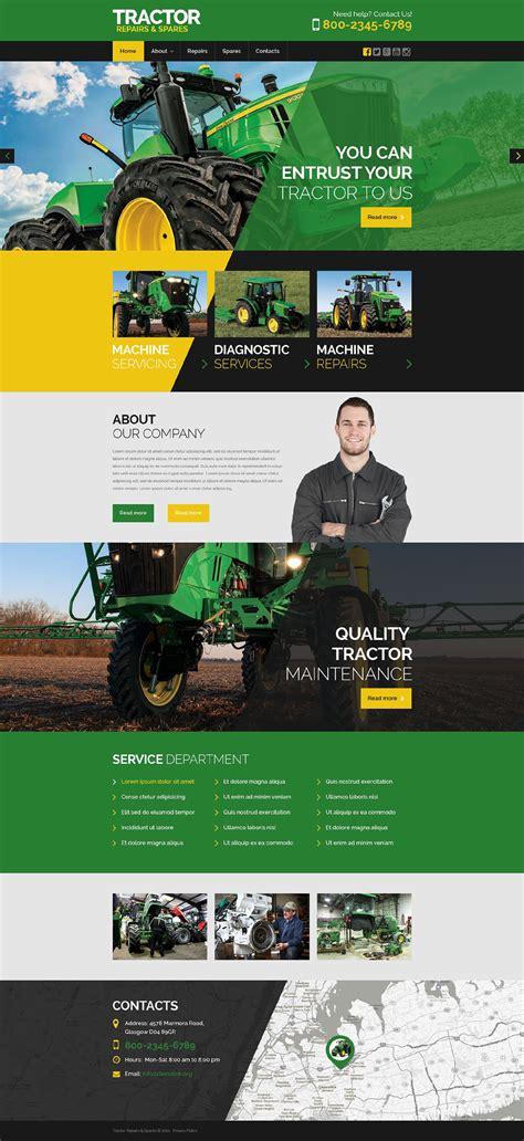 tractor maintenance website template