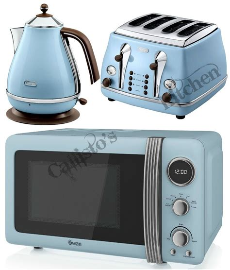 Tostapane Delonghi Icona by Blue Microwave Kettle And Toaster Set Delonghi Icona And