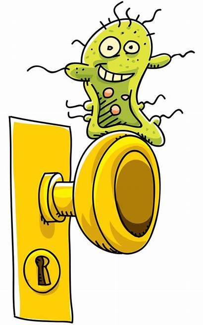 Cartoon Germ Door Knob Happy Clip Clipart