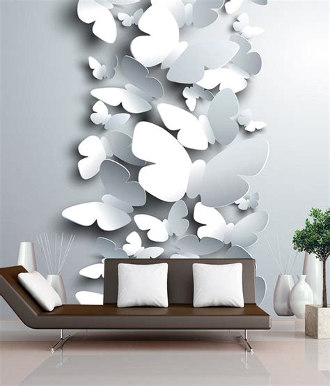 finearts digitally printed wallpaper  butterflies