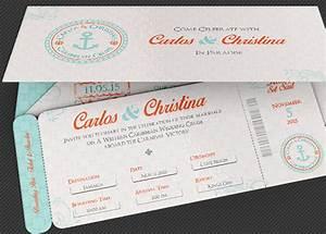 wedding cruise boarding pass invitation template church With free printable boarding pass wedding invitations