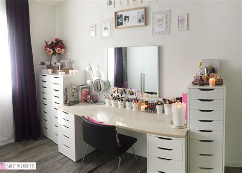 bureau maquillage post n 146 lifestyle mon rangement makeup