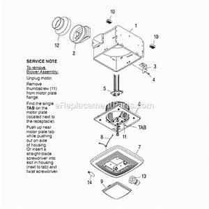 Broan Qt130le Parts List And Diagram   Ereplacementparts Com