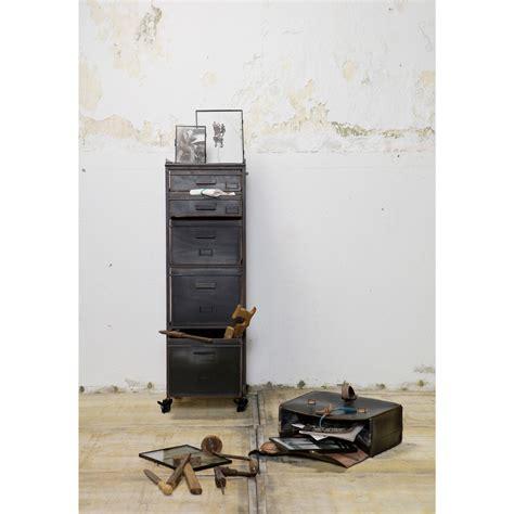 de rangement metal meuble de rangement m 233 tal 5 tiroirs chaplin par drawer