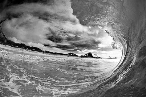 papier peint marin noir  blanc vague surf izoa