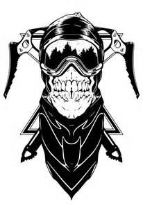 Black Ski Mask Drawing