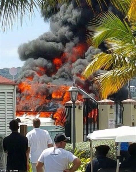 Tow Boat Us St Thomas by Us Virgin Islands Video Shows Luxury Yacht Fire At