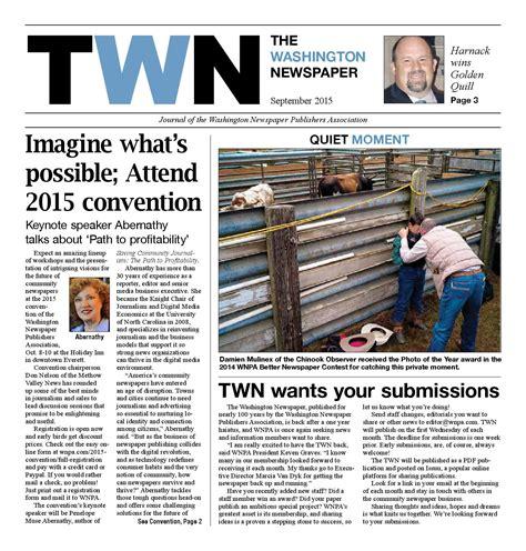 washington newspaper september publishers