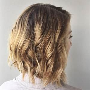 Balayage Cheveux Bouclés : balayage carre lisse oloration cheveux ~ Dallasstarsshop.com Idées de Décoration