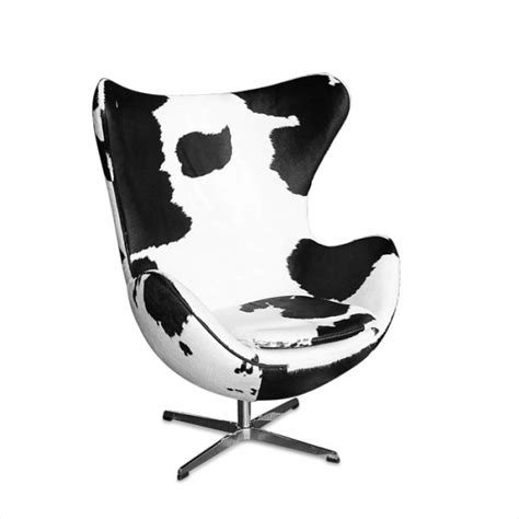 Cowhide Egg Chair by Arne Jacobson Egg Chair Replica Cowhide Finish