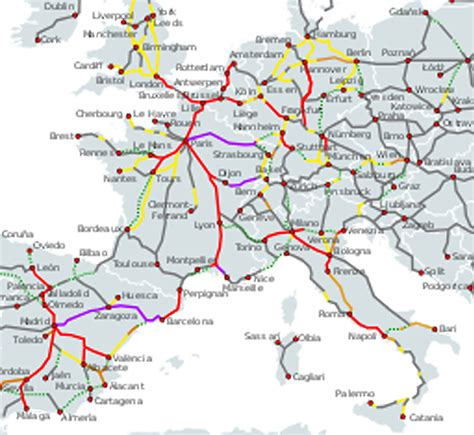 foto de 25 Inspirant Tgv Europe Carte