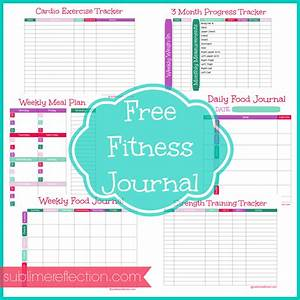 free downloadable fitness journal sublime reflection With fitness journal template printable
