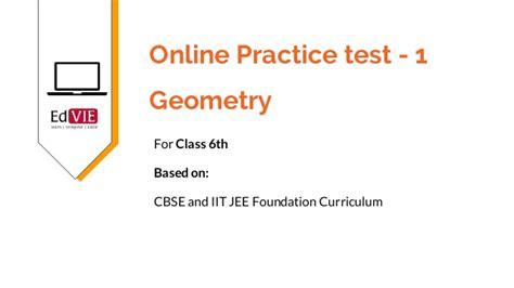 Cbse 6th Class Mathematics  Geometry Free Practice Tests & Study Mat…