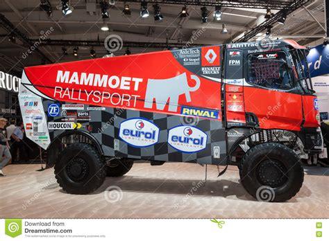 rally truck racing renault dakar rally racing truck editorial photo image