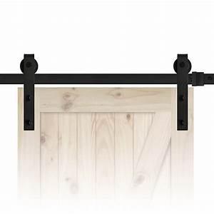 finer doors 72quot sliding barn door track and hardware kit With 72 barn door hardware