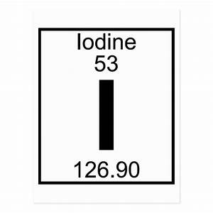 Element 053 - I - Iodine (Full) Postcard | Zazzle