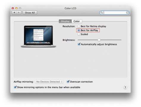 airplay iphone to macbook retina macbook pro gets quot best for airplay quot display option