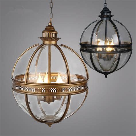 wrought iron pendant lights kitchen vintage loft globe pendant light wrought iron glass shade 1973
