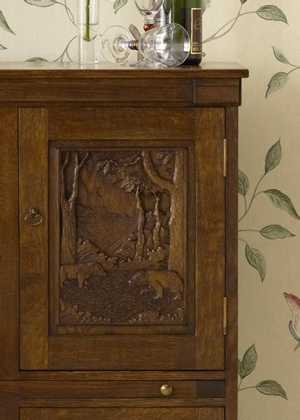 Wine Cupboard Furniture by Oak Wine Cupboard
