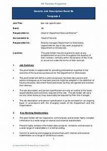 Generic job description band 2 template 4 for Generic job description template