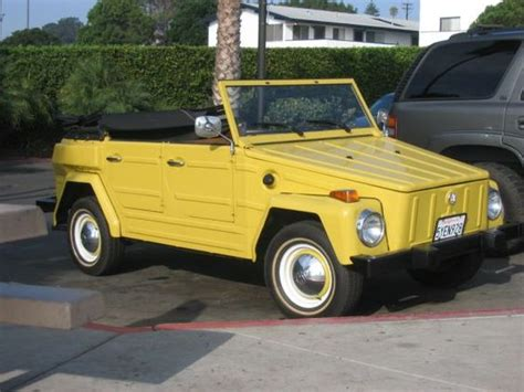 volkswagen thing yellow yellow clean love the classic hubcaps 1974 vw thing