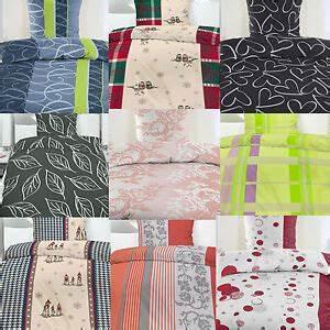 Bettwäsche 135x200 Baumwolle : 2 oder 4 tlg biber bettw sche 135x200 80x80 cm baumwolle winterbettw sche ebay ~ Orissabook.com Haus und Dekorationen