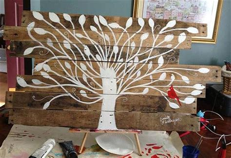 pallet tree painting pallet wall art pallet furniture plans