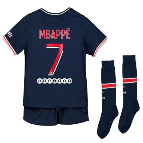 The youngest french player to ever score a goal at the world cup, kylian mbappé has enjoyed an impressive career since. Maillot Mbappé PSG Enfant 2020-2021 Domicile