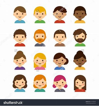 Different Clipart Hair Skin Male Colors Cartoon