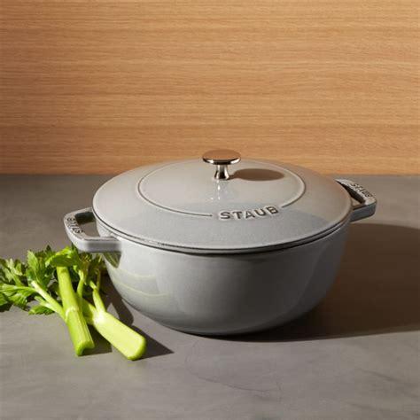 staub  qt graphite grey essential french oven