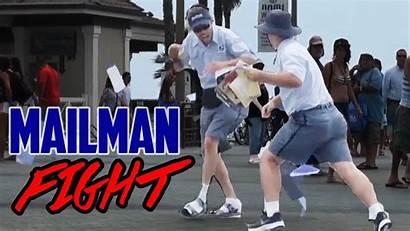 Mailman Drunk Fight Prank Courier Socks Baseball