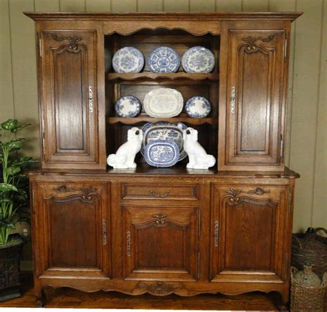 antique french country hutch shell carved burled walnut cupboard buffet