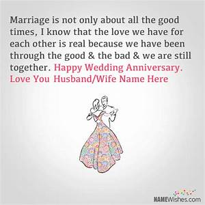 Wedding Anniversary Wishes With Name