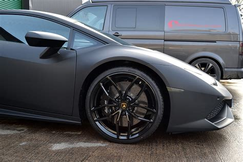 Lamborghini Huracan Wrapped In Matte Black