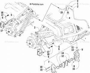 Arctic Cat Atv 2004 Oem Parts Diagram For Hydraulic Brake
