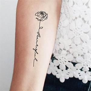 Tatouage De Rose : tatouage rose avec phrase ces tatouages de rose qui ne ~ Melissatoandfro.com Idées de Décoration