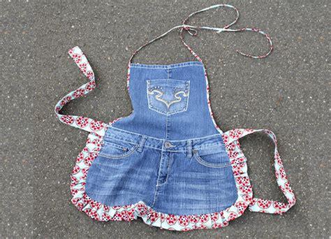 como fazer um avental  seu jeans velho vilamulher