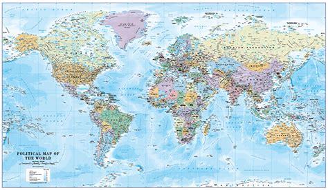 Political World Map 1:30 million - £18.99 : Cosmographics Ltd