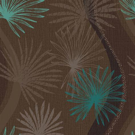 arthouse vintage novara dark brown teal wallpaper