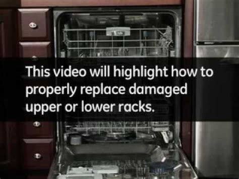 replacing dishwasher racks youtube