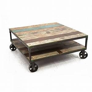 Table Basse Occasion : table basse style industriel occasion le bois chez vous ~ Teatrodelosmanantiales.com Idées de Décoration