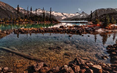 วอลเปเปอร์ : แนวนอน, พระอาทิตย์ตก, อ่าว, ทะเลสาบ, ธรรมชาติ ...