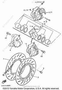Yamaha Motorcycle 1990 Oem Parts Diagram For Front Brake