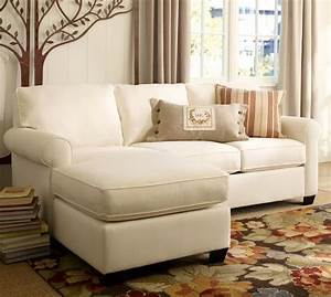 buchanan roll arm upholstered sofa with reversible chaise With buchanan sectional sofa pottery barn
