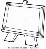 Easel Clipart Illustration Royalty Visekart Artist Rf Cliparts Clipground Illustrationsof sketch template