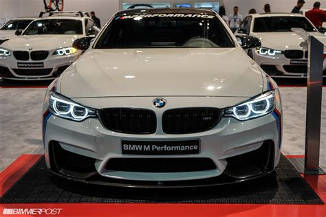 bmw m4 performance updated with q a new m4 m performance parts at sema 2015