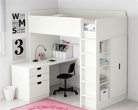lit mezzanine ikea avec bureau hoogslaper stapelbed ikea