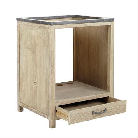 meuble de cuisine en bois meuble bas de cuisine pour four en bois recyclé l 64 cm