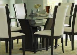 glass dining room table sets glass top dining room table and chairs house design ideas