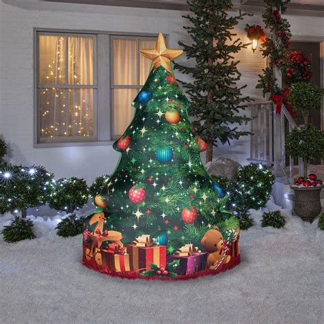 84 quot gemmy santa christmas tree presents airblown